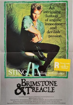 brimstone & treacle australian daybill movie poster with Sting (2)