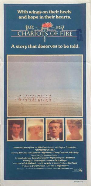 chariots of fire australian daybill movie poster 1981