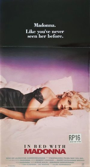 in bed with Madonna australian daybill movie poster 1991 also known as Madonna: Truth or Dare