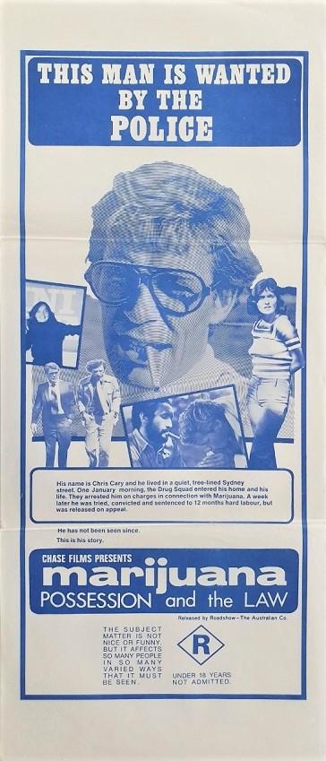 Marijuana: Possession and the Law 1974 australian daybill movie poster