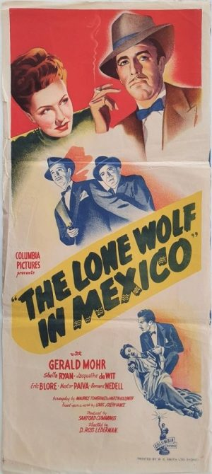 the lone wolf in mexico australian daybill movie poster 1947