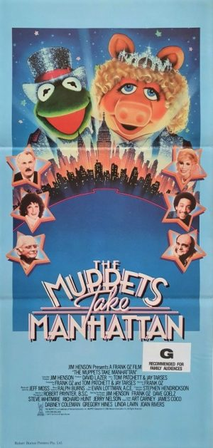 the muppets take manhatten australian daybill movie poster 1984
