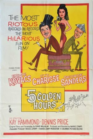 5 Golden Hours Austrlian One Sheet Poster 1961