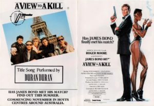 A View To A Kill James Bond 007 Flyer with Roger More, Grace Jones and Duran Duran (2)
