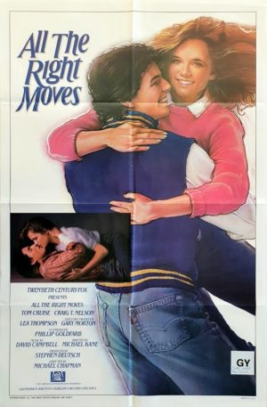 All the right moves US One Sheet movie poster with Tom Cruise 1983