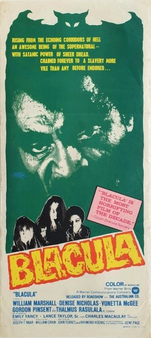 Blacula Australian daybill poster blaxploitation vampire movie (5)