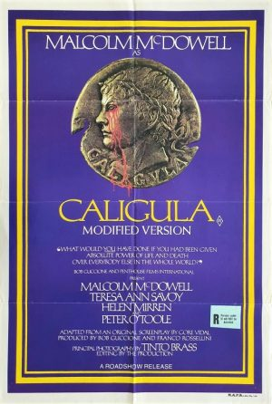 Caligula australian one sheet movie poster