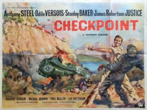 Checkpoint 1956 UK Quad Poster British motor racing classic