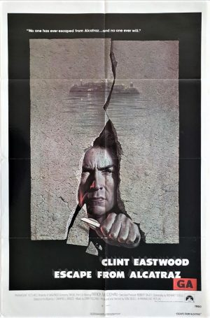 Escape From Alcatraz US One Sheet movie poster staring Clint Eastwood