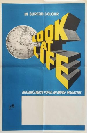 Look at Life UK double crown advertising poster for this early movie magazine 1960's