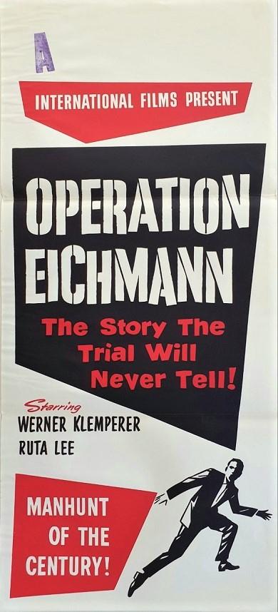 Operation Eichmann NZ daybill movie poster