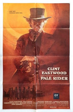 Pale Rider US international One sheet movie poster with Clint Eastwood