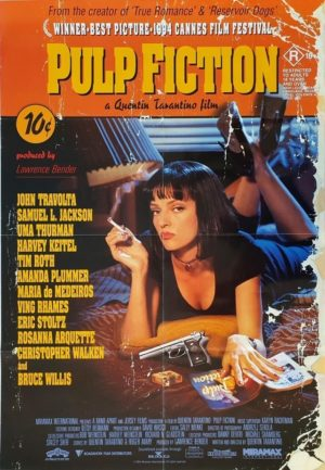 Pulp fiction Australian one sheet movie poster by Quentin Tarantino (3)