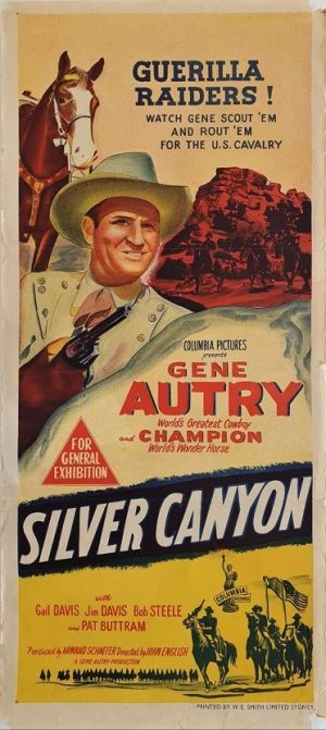 Silver Canyon Australian daybill poster with Gene Autry (2)