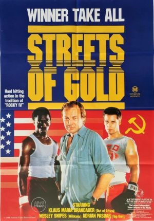Streets of Gold Australian One Sheet movie poster with Wesley Snipes 1986