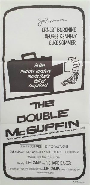 The Double McGuffin australian daybill movie poster by Saul Bass (3)
