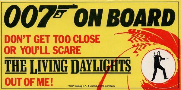 The Living Daylights James Bond 007 bumper sticker (2)