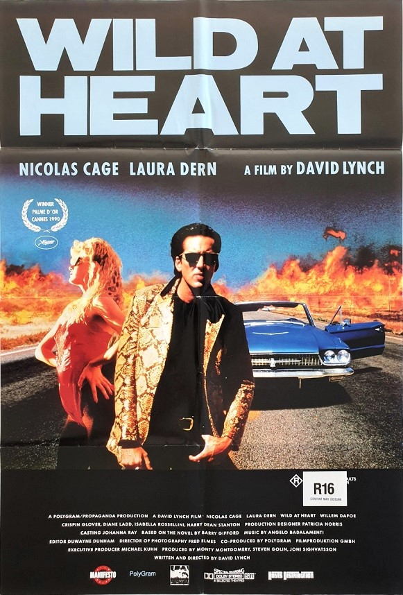Wild At Heart Australian daybill poster with Nicolas Cage and Laura Dern by David Lynch (2)