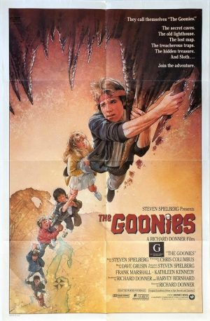 the goonies US One Sheet poster by Drew Struzan