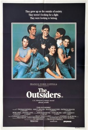 the outsiders australian one sheet movie poster with Tom Cruise and Patrcick Swayze (1)