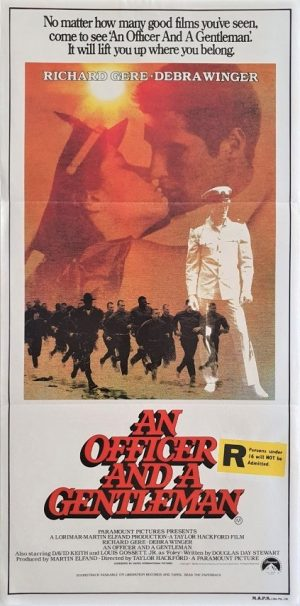 An Officer and a Gentleman australian daybill poster 1982 with Richard Gere