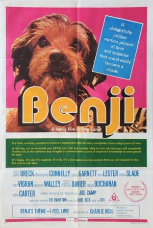 Benji Australian One Sheet Movie Poster 1974
