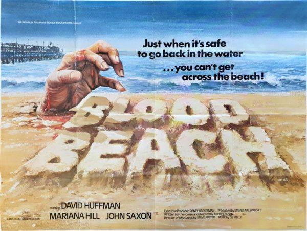 Blood Beach UK Quad Poster 1980