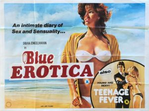 Blue Erotica Emmanuelle and Teenage Fever UK Sexploitation Adult Quad Poster by Tom Chantrell (8)