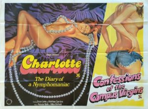 Charlotte and Confessions of the Campus Virgins UK Sexploitation Adult Quad Poster by Tom Chantrell (8)