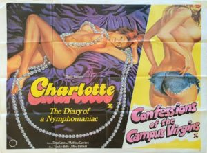 Charlotte and confessions of the campus virgins UK Quad Poster by Tom Chantrell 1970s