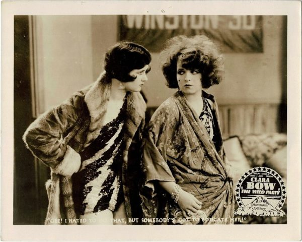 Clara Bow 1929 The Wild Party US Still with Fredric March