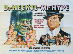 Dr. Heckyl and Mr. Hype UK Quad Poster by Tom Chantrell staring Oliver Reed