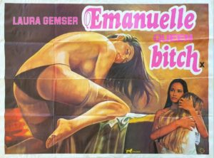 Emanuelle Queen Bitch UK Sexploitation Adult Quad Poster by Tom Chantrell (6)