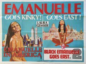 Emanuelle in America and Black Emanuelle Goes East UK Adult Quad Poster by Sam Peffer (2)