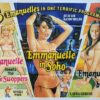 Emanuelle meets the wife swoppers and Emmanuelle in Soho and Emanuelle queen bitch UK Sexploitation Adult Quad Poster with Tom Chantrell art (3)