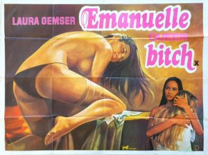 Emanuelle queen bitch UK Sexploitation Adult Quad Poster with Laura Gemser (1)