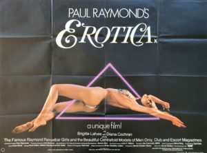 Paul Raymond's Erotica UK Sexploitation Adult Quad Poster 1982