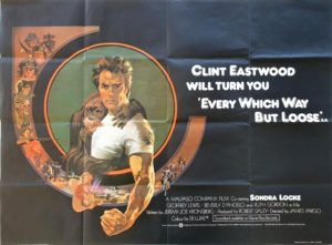Every Which Way But Loose UK Quad Poster with Clint Eastwood (2)