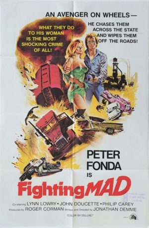 Fighting Mad One Sheet movie poster with Peter Fonda