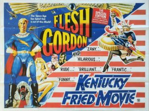Flesh Gordon and Kentucky Fried Movie UK Sexploitation Adult Quad Poster by Sam Peffer (2)