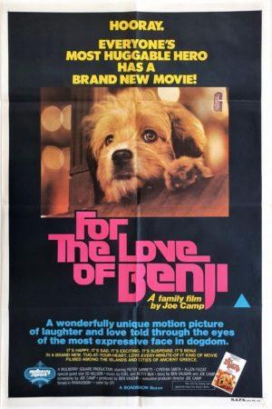 For the love of Benji Australian One Sheet Movie Poster 1977