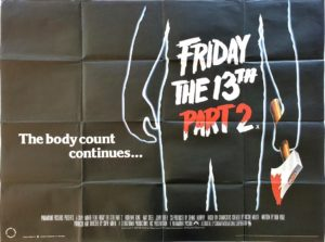 Friday the 13th Part 2 UK Quad Poster