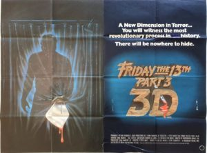 Friday the 13th Part 3 3D UK Quad Poster