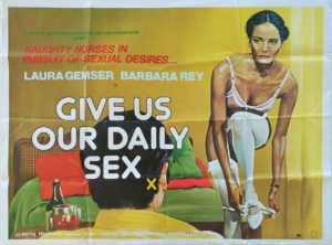 Give Us Our Daily Sex UK Sexploitation Adult Quad Poster with Sam Peffer art (8)