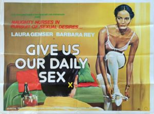 Give Us Our Daily Sex UK Sexploitation Adult Quad Poster with Sam Peffer art (5)