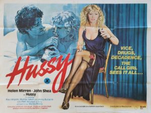 Hussy UK Sexploitation Adult Quad Poster with Helen Mirren (8)