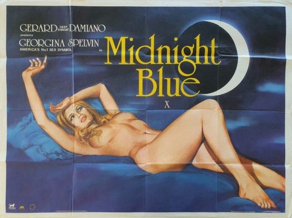 Midnight Blue UK Sexploitation Adult Quad Poster by Tom Chantrell (6)