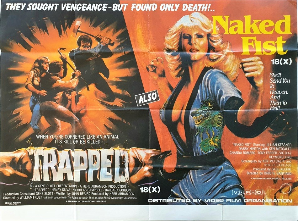 Naked Fist and Trapped UK Exploitation Quad Poster (2)