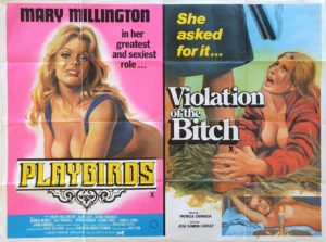 Playbirds and Violations of the Bitch UK Sexploitation Adult Quad Poster with Mary Millington by Tom Chantrell (2)