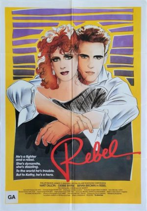 Rebel US One Sheet Movie Poster with Matt Dillon